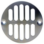 SN SHWR DRAIN GRILL W/SCREWS