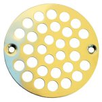 "PB 4"" FLAT STRAINER W/SCREWS"