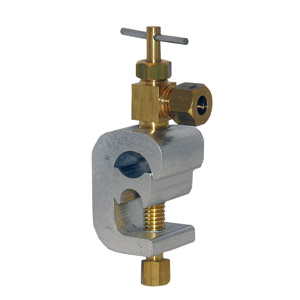 """C"" CLAMP 1/4 SADDLE VALVE - Click Image to Close"